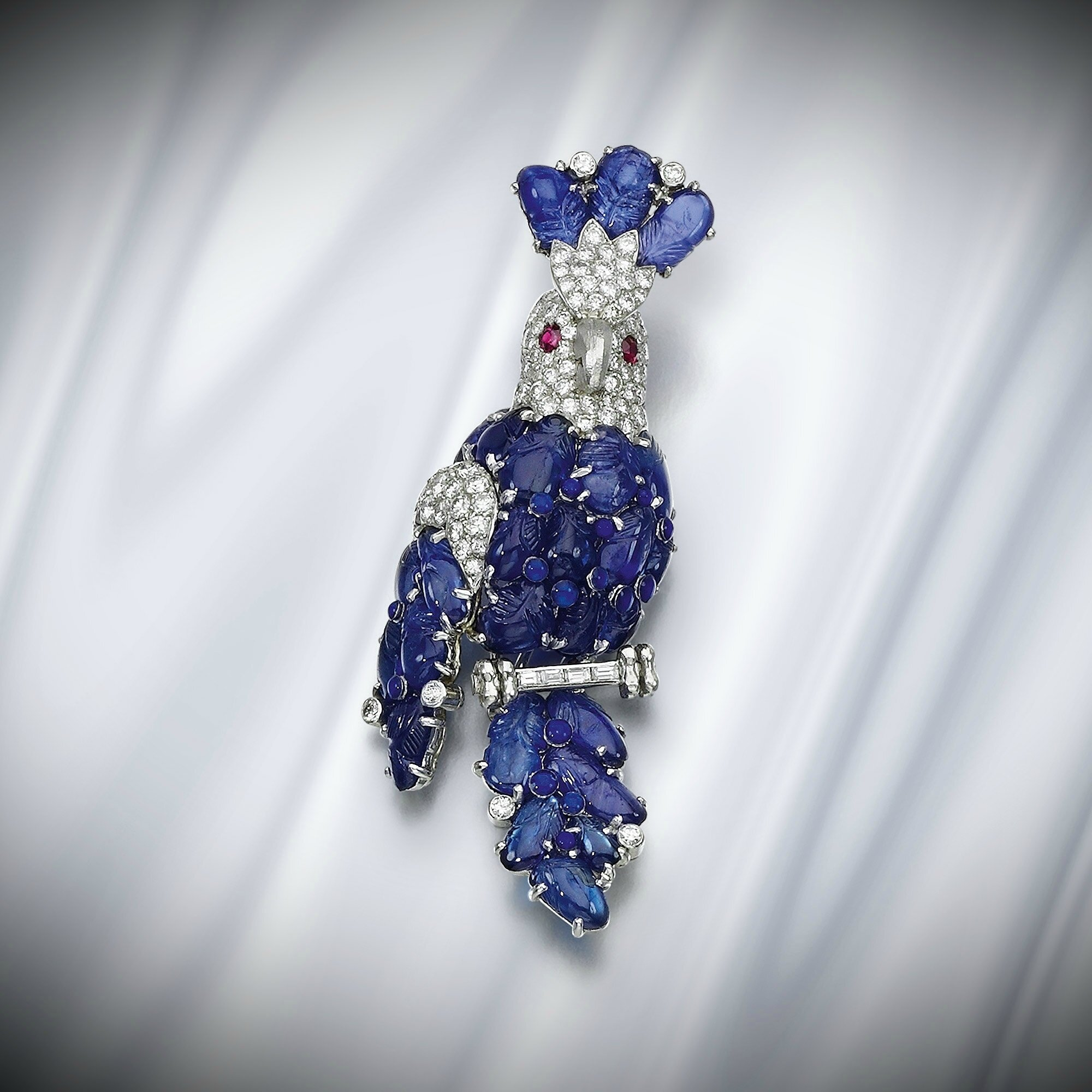 and diamond pin cartier clips pair sapphire chf ear of