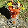 Vase récup' (ressort à matelas)