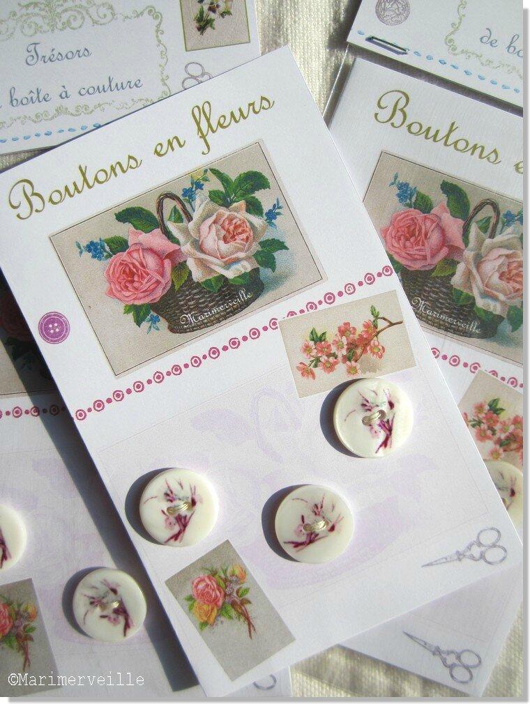 Boutons en fleurs Marimerveille. Carte TBC B5