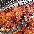 Barbecue de morue sauce gochujang