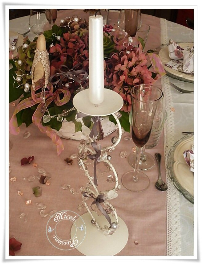 "Ma table ""HORTENSIAS SO ROMANTIC"""