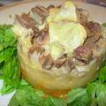 Parmentier de canard aux 2 légumes