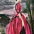 Balenciaga. Dessin Robe Infante