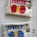 étiquettes tricot