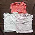 Lot 3 t-shirt - 12 mois - tape à l'oeil