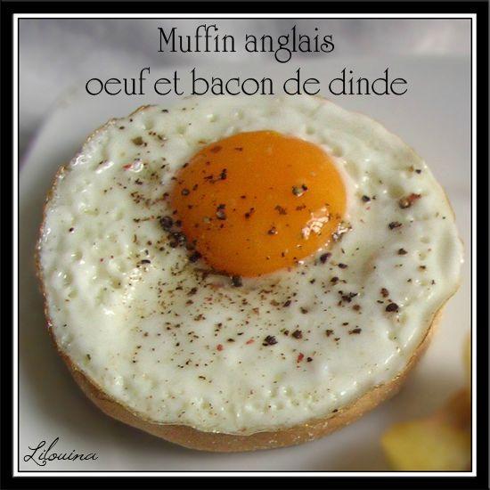 Muffins anglais oeuf et bacon de dinde fait maison par lilouina - Fait maison en anglais ...