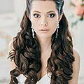 Classy-and-Elegant-Black-Half-Up-Half-Down-Wavy-Wedding-Hairstyle