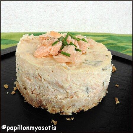 cheesecake au pavé de saumon