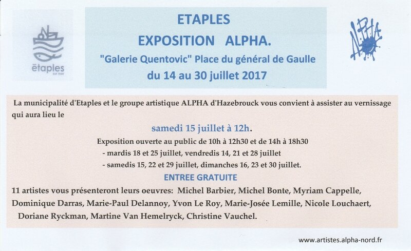 invitation Exposition ALPHA à Etaples