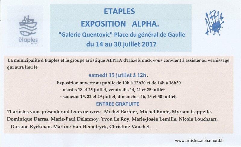 invitation Exposition ALPHA à Etaples