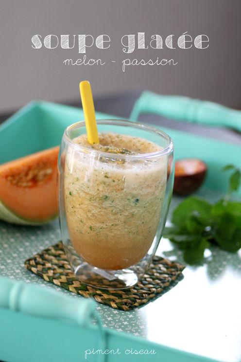 Soupe glacée melon/passion