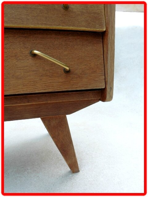 commode vintage design scandinave pieds compas