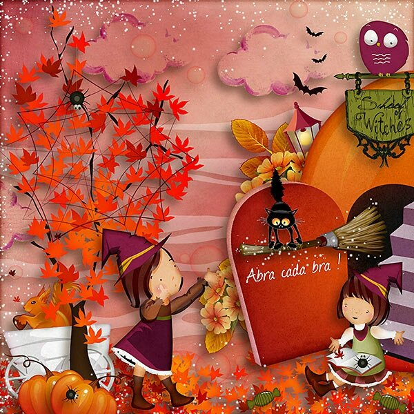 Kit School Witches , Vive Halloween ! tout mignon