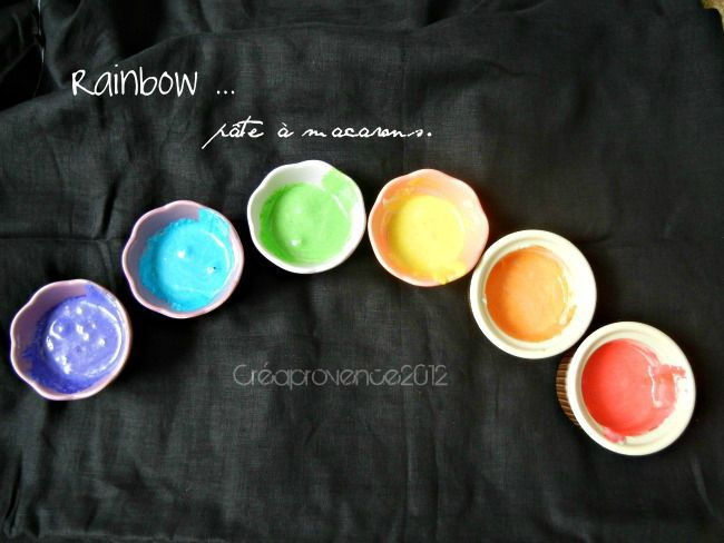 rainbow pte  macarons