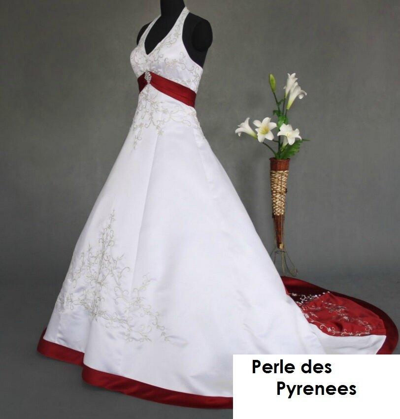"""Robe de mariée """"Mérédith"""" 449€ sur commande Taille 34 à 54 , JUPON + PORT OFFERT"""