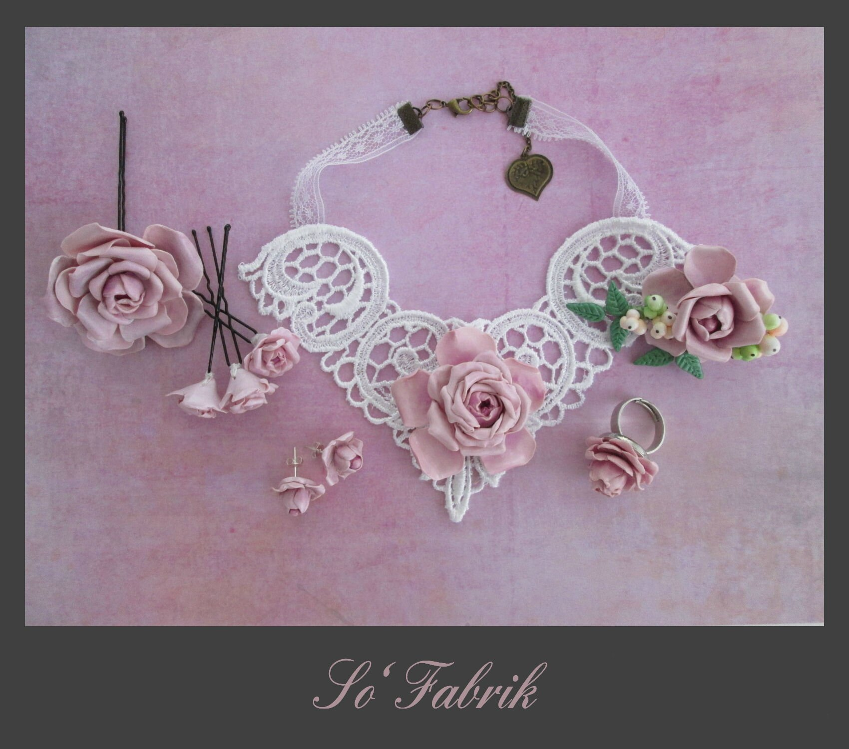 Collection Rose Dentelle 1