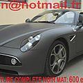 Alfa-romeo-8c-alfa-romeo-8c-auto-peinture-peinture-carrosserie noir mat