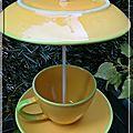 Tasse jaune - mangeoire à oiseaux
