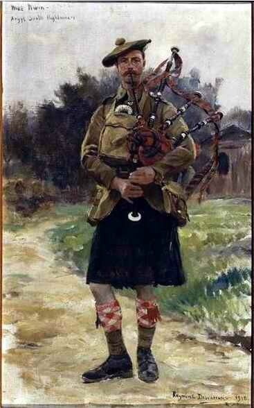 Mac Mivin, cornemusier écossais, Argyll and Sutherland Highlanders