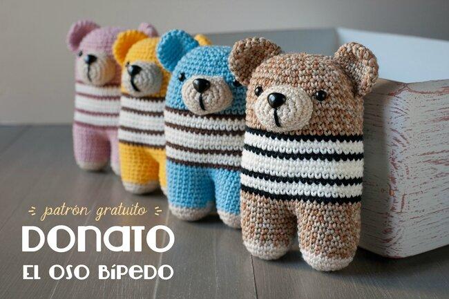 Amigurumi Tuto : Tuto amigurumi donato l ours à deux pattes tout sur le crochet