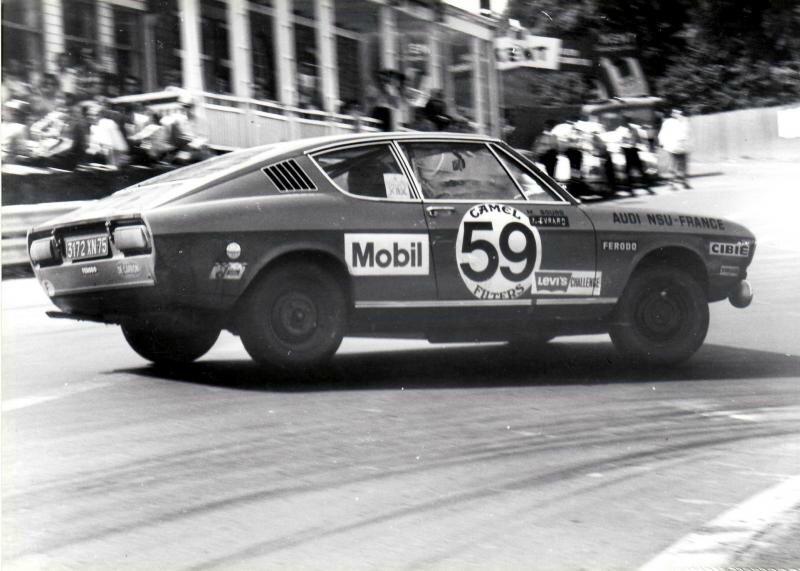 1972 - 24h de SPA - Sourd-Evrard (Audi 100 S Coupé - 24 ème)