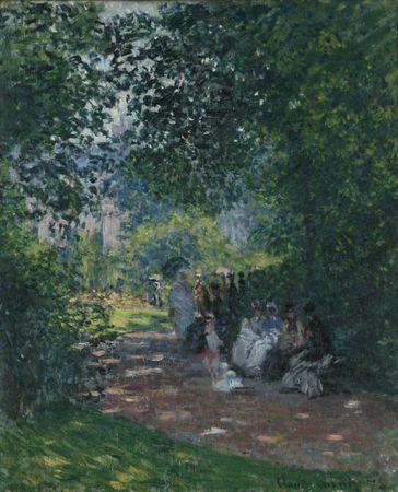 Monet Au Parc Monceau 1878