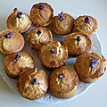 Muffins à la violette