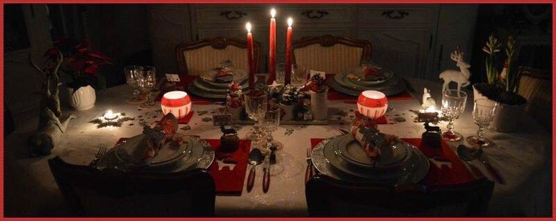 Table soir noel'