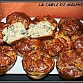 Muffins au jambon cru et champignons de paris