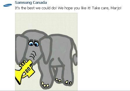 réponse Samsung