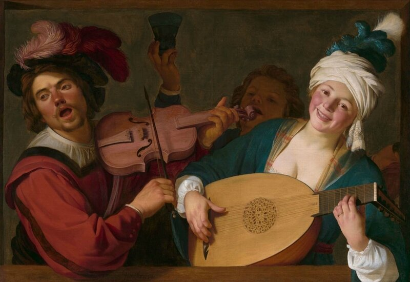 A-Merry-Group-Behind-a-Balustrade-with-a-Violin-and-a-Lute-Player_Gerrit-van-Honthorst_4x3-uncropped