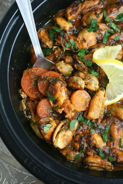 Tajine de moules et carottes - Minouchka 2