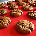 Cookies moelleux chocolat à la purée d'amandes