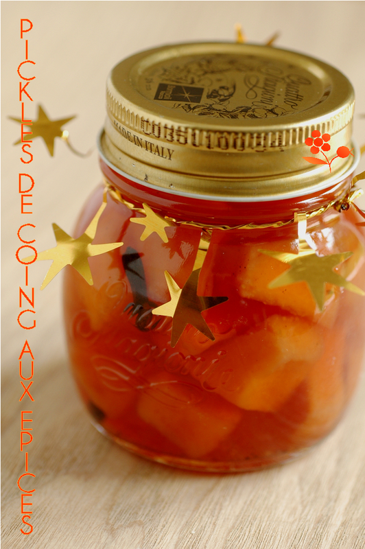 Pickles de coings aux épices_2