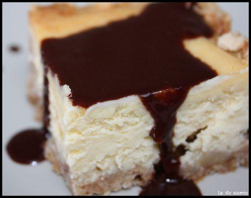 Cheese-cake chocolat blanc chocolat noir