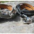 Bracelets Cadenas cuir triple tour