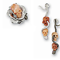 Skull ring and matching earrings