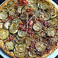 Tatin de courgettes à la tomate olivette