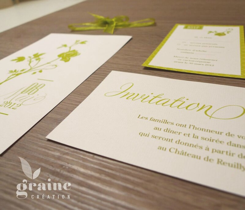 faire-part rose carton d'invitation