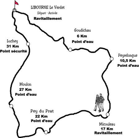 Parcours Pedestre 2012 + distances