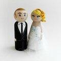 Figurine mariés gateau