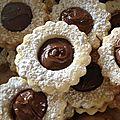 Sablés fourrés chocolat ou confiture (comme les lunettes sablées)