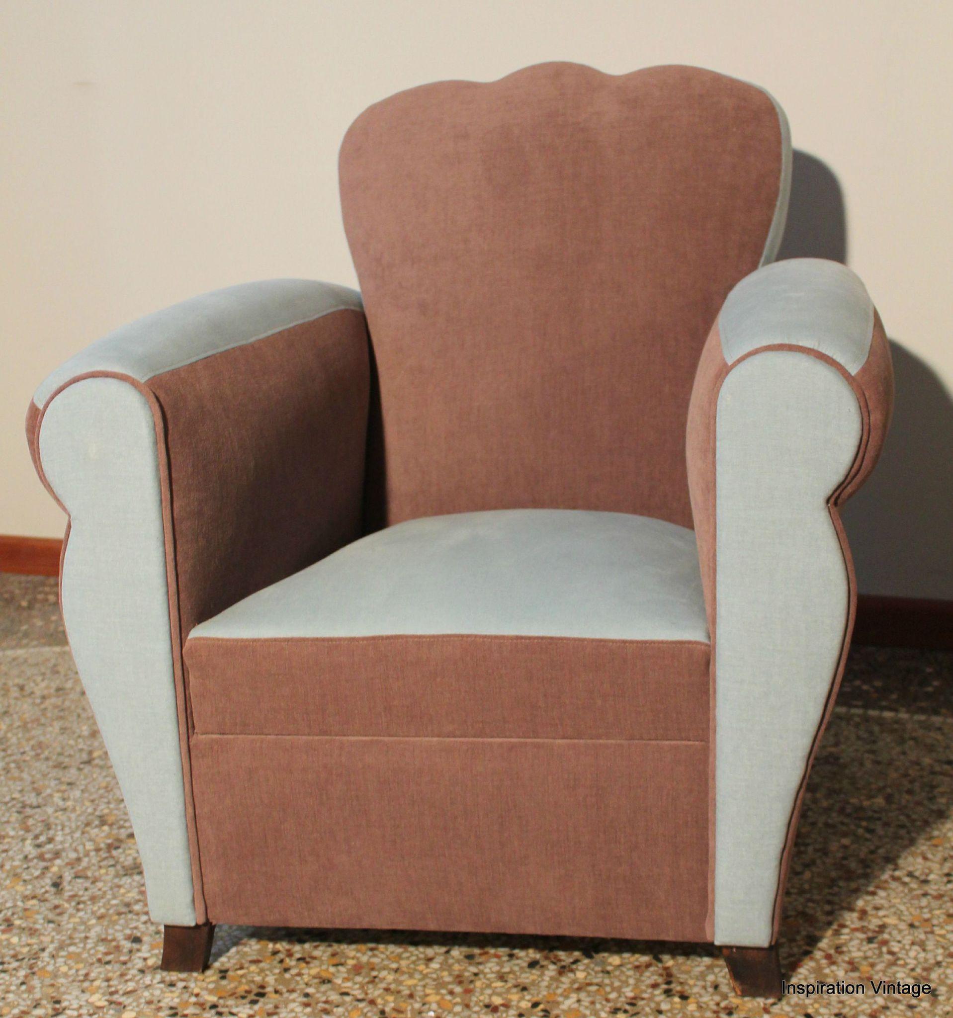fauteuil club 50 39 s bleu chocolat inspiration vintage. Black Bedroom Furniture Sets. Home Design Ideas