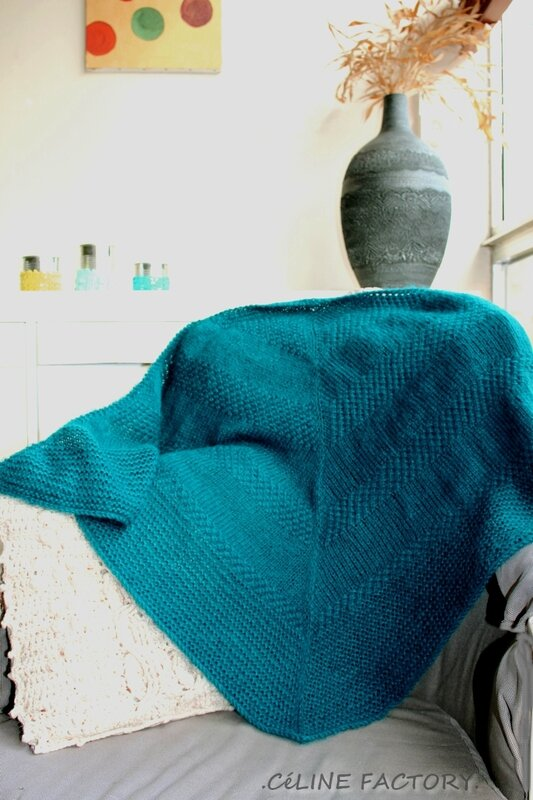 Textured shawl 3