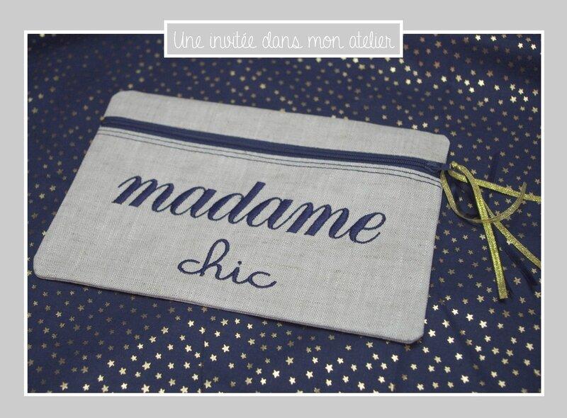 trousse-lin enduit-madame chic-bleu marine et doré