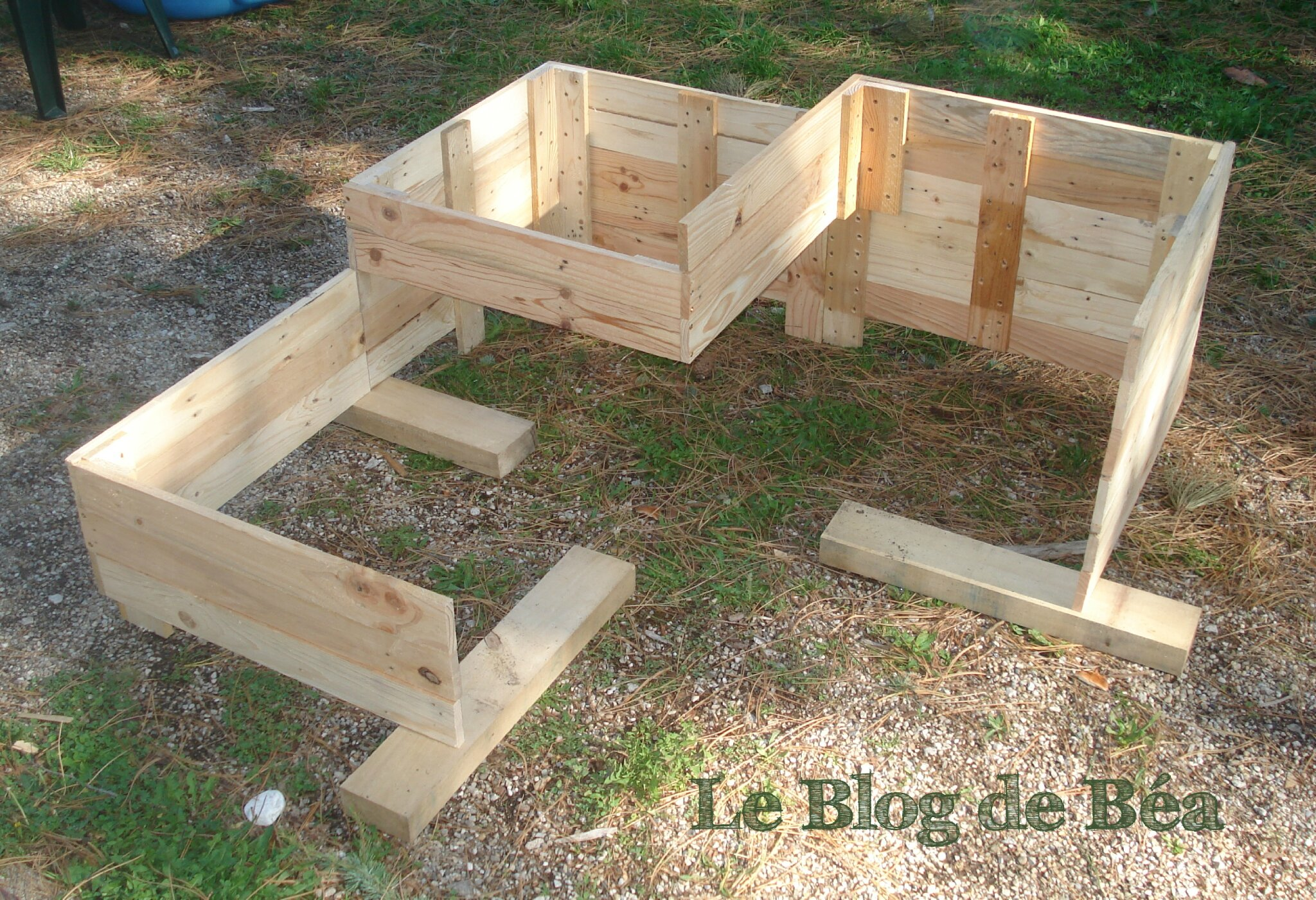 diy carr potager en bois de palette le blog de b a. Black Bedroom Furniture Sets. Home Design Ideas