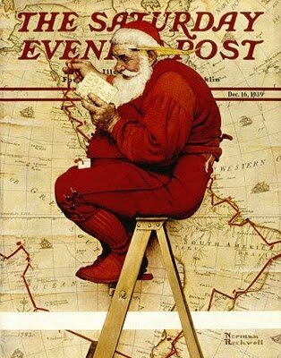 Christrmas-norman-rockwell-santa-at-the-map