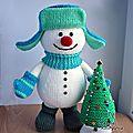 Snowman and xmas tree