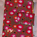2 trousses en 1 foldingo coton enduit petit pan coquelicots rouges, fold and go double pouch petit pan fabric (1)