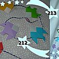 212, 213. guirlandes poissons